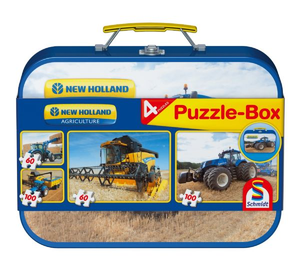 MALETIN METALICO DE PUZZLES NEW HOLLAND
