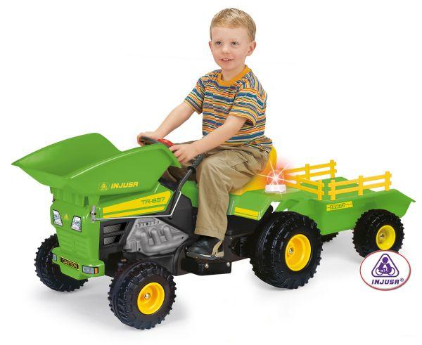 Juguete Bateria Track 6v Tractor De Electrico A Dump FcK1Jl