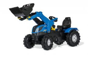 TRACTOR DE PEDALES NEW HOLLAND T7 CON PALA