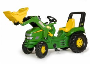 TRACTOR DE PEDALES JOHN DEERE ROLLY TOYS X-trac CON PALA