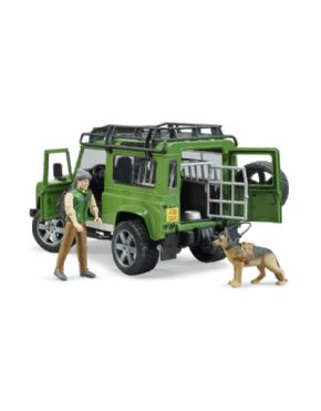 TODOTERRENO LAND ROVER CON FIGURA GUARDABOSQUES BRUDER