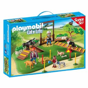 SUPERSET Y PARQUE DE PERROS PLAYMOBIL